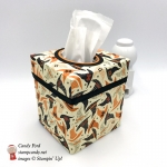 Festive Halloween Tissue Box cover made using Stampin