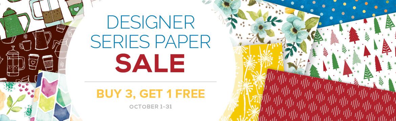 Designer Series Paper Sale at Stampin' Up! October 1-31, 2017 #stampcandy