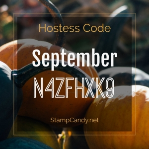 September 2017 Stampin' Up! Hostess Code