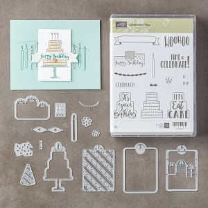 Celebration Time Bundle (Celebration Time stamp set and Celebration Thinlits Dies) by Stampin' Up!