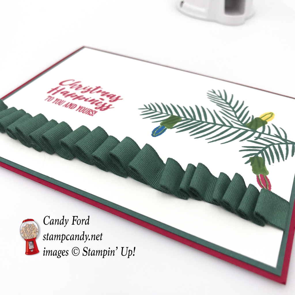 Christmas card made using the Christmas Happiness stamp set by Stampin' Up! #stampcandy