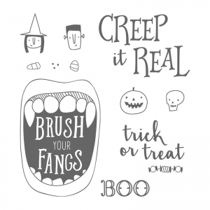 Happy Halloween Card made with Creep it Real stamp set by Stampin' Up! #stampcandy