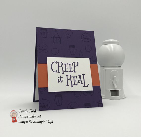 Creep It Real handmade Stampin' Up! Halloween card by Stamp Candy