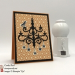 Tis the Season to Sparkle and Spook with this spooky halloween chandelier with a raven by Stamp Candy of Stampin