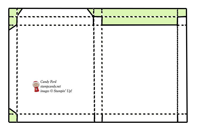 tutorial for box for a mug cake mix #stampcandy
