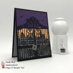 Handmade halloween card using Stampin