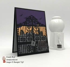 Handmade halloween card using Stampin