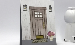 Front door welcome at home with you bundle stampin up stamp candy handmade card fall autumn
