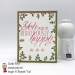 You make me ridiculously happy handmade card using Stampin