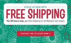 FREE SHIPPING - 27 Oct 2017 - Stampin' Up! #stampcandy