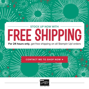 FREE SHIPPING - 27 Oct 2017 - Stampin' Up! #stampcandy