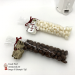 Seasonal Chums Snowman and Reindeer candy bag tags by Stampin