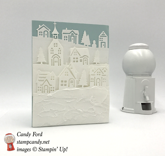Hearts come home to a snowy neighborhood stamp candy stampin up hearts come home hometown greeting christmas card by candy ford of stamp m4hsunfo