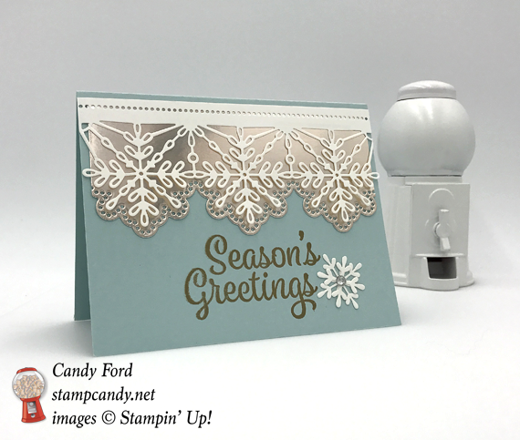 Stampin' Up! Snowflake Sentiments Seasons Greetings Card by Stamp Candy