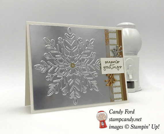 Stampin' Up! Winter Wonder Cheers to the Year of Cheer Christmas Card by Stamp Candy