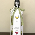 Wine Bottle Cover using Half Full stamp set by Stampin