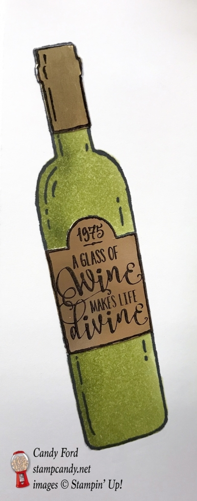 Wine Bottle Cover using Half Full stamp set by Stampin' Up! #stampcandy