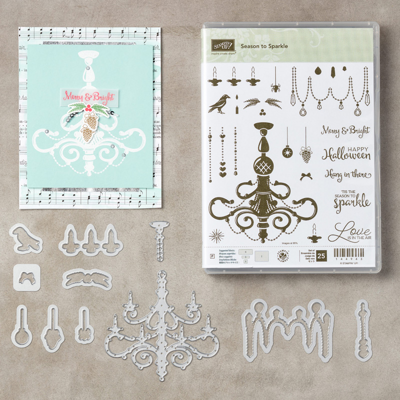 Season to Sparkle Bundle by Stampin' Up! #stampcandy