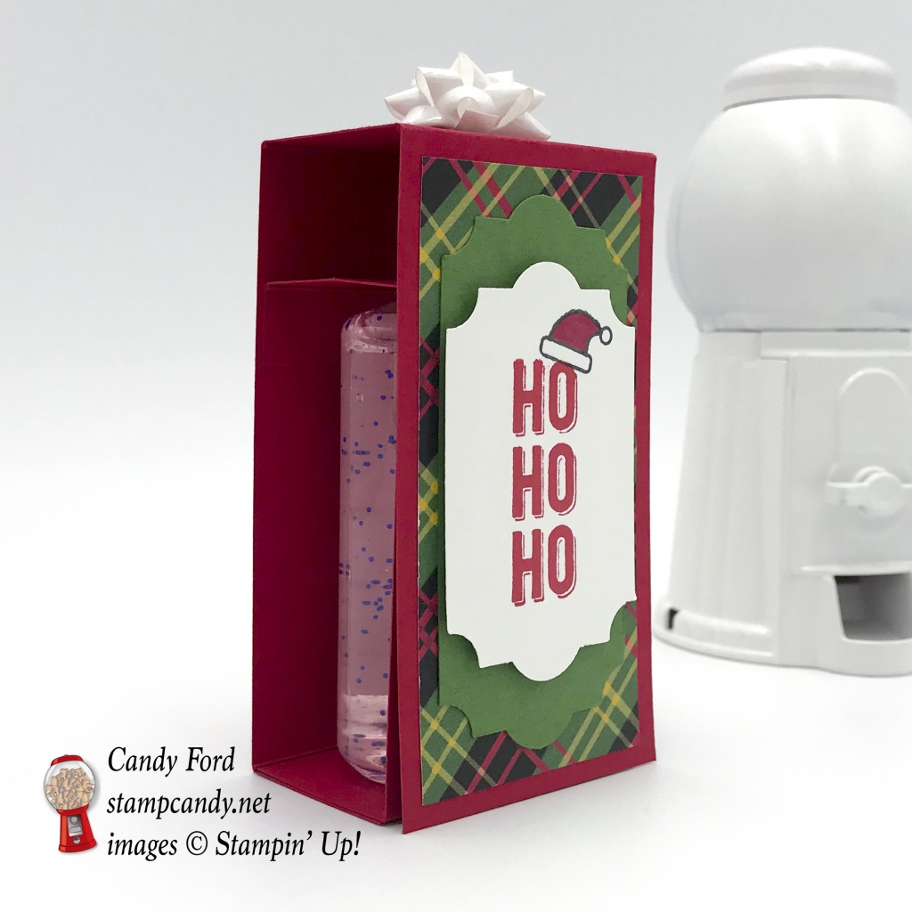 Hand Santa-tizer sanitizer Christmas gift, Christmas Around the World DSP, Iconic Christmas and Labels to Love stamp sets by Stampin' Up! #stampcandy