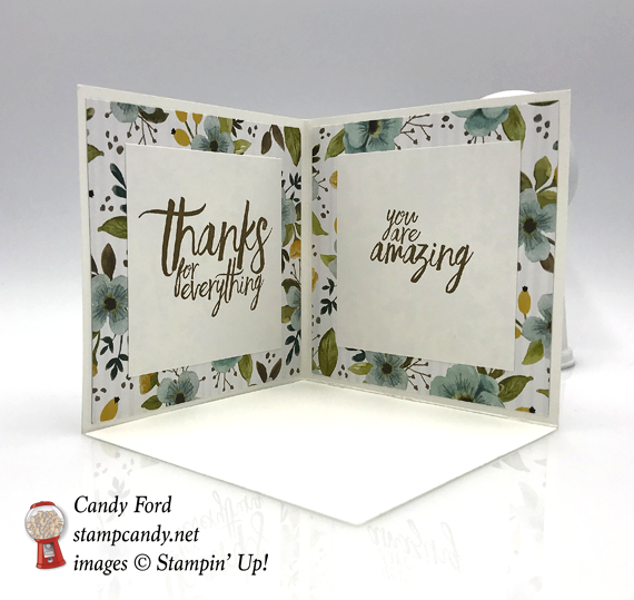 Stampin' Up! Whole Lot of Lovely Sending Lots of Love handmade fancy fold card by Candy Ford of Stamp Candy