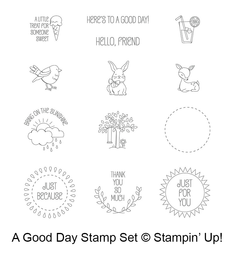 A Good Day stamp set © Stampin' Up! #stampcandy