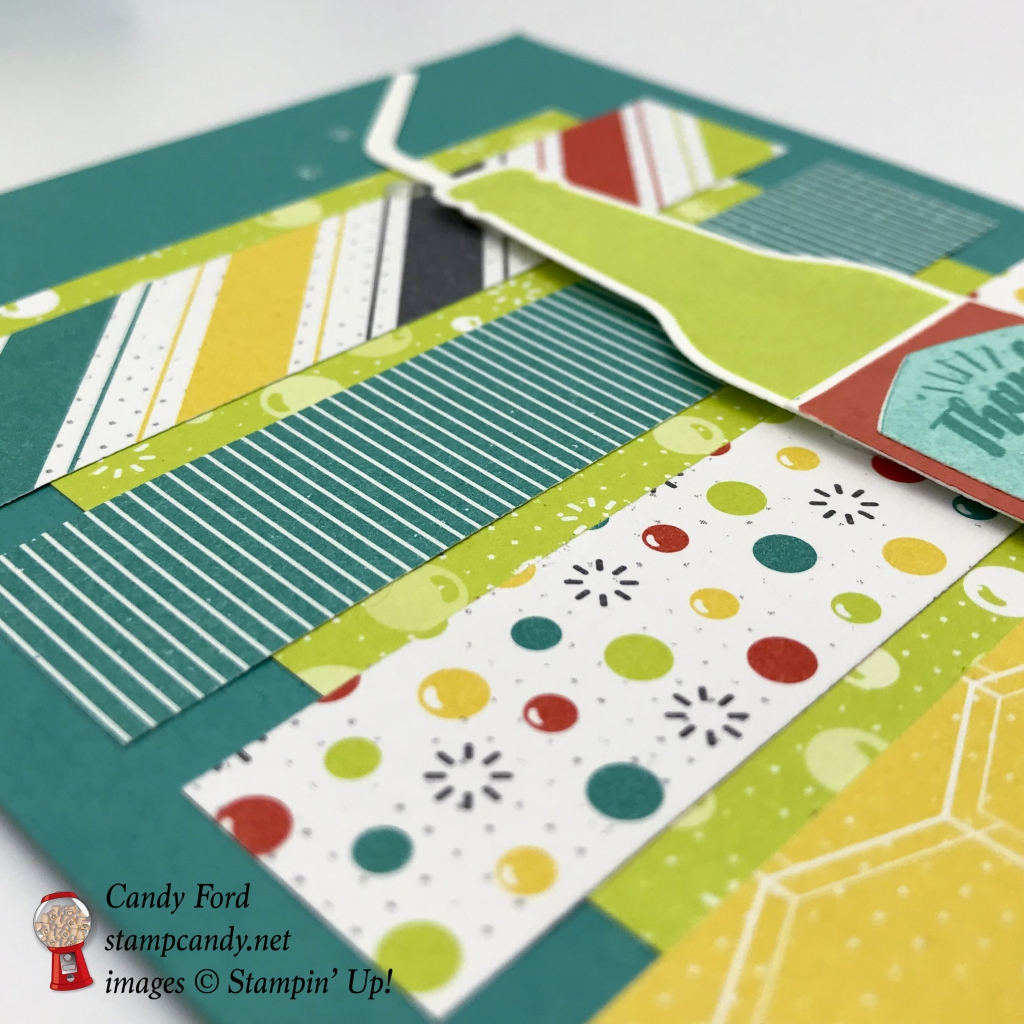 cards made with Bubble Over, Bottles & Bubbles Framelits Dies, Bubbles Fizz paper, by Stampin' Up! #stampcandy