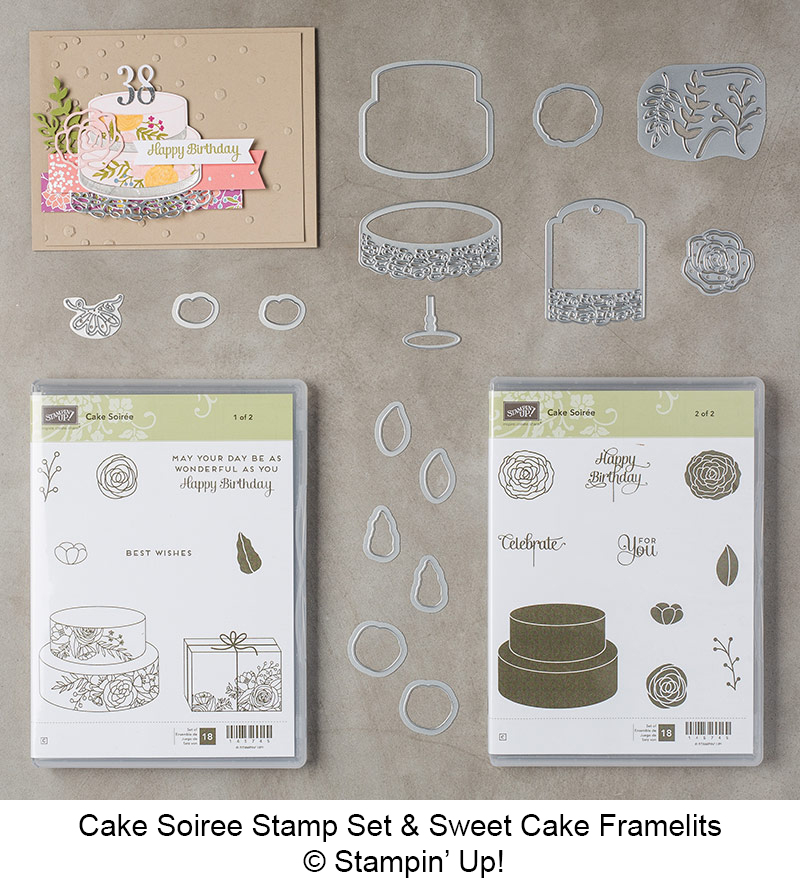 Cake Soiree Bundle (Cake Soiree stamp set and Sweet Cake Framelits Dies) © Stampin' Up!