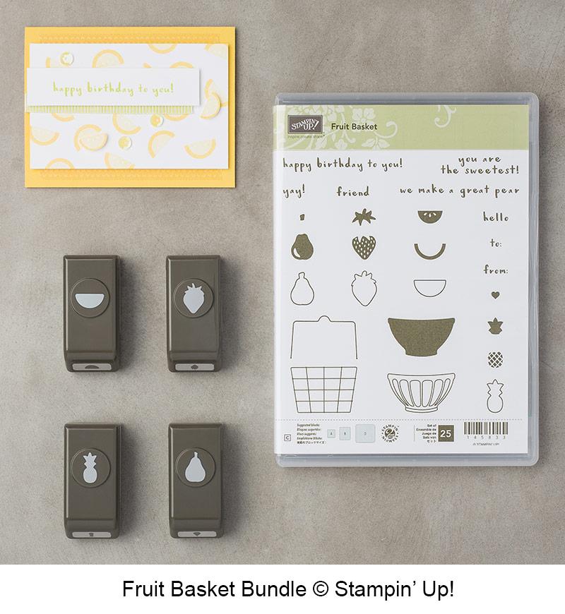 Fruit Basket Bundle - Fruit Basket stamp set and Itty Bitty Fruit Punch Pack - © Stampin' Up!