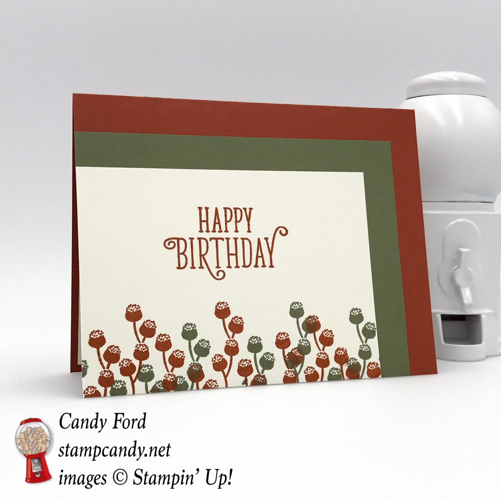 Stampin' Up! Happy Birthday Gorgeous handmade birthday card by Candy Ford of Stamp Candy