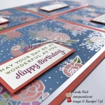 This lovely card was made with the Cake Soiree Bundle ( Cake Soiree stamp set and Sweet Cake Framelits Dies ) and Sweet Soiree Designer Series Paper by Stampin