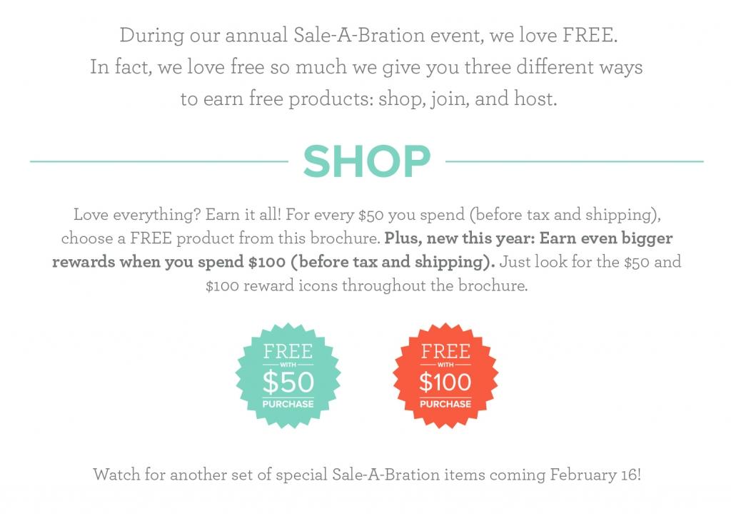 2018 Sale-a-bration shop details