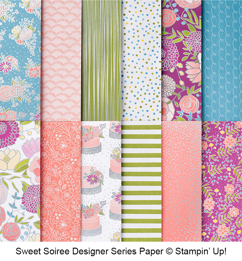 Sweet Soiree Designer Series Paper DSP © Stampin' Up!