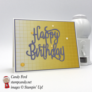 Happy Birthday thinlit die card color theory card pack with glitter enamel dots Stampin