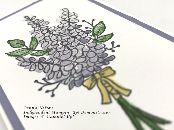 2018 Stampin' Up! Sale-A-Bration Lots of Lavendar on tall notecards by Penny Nelson handmade card Stamp Candy