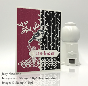 Judy Newsome handmade card using Stampin