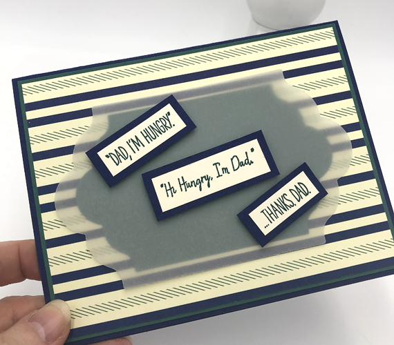 Stampin' Up! Dad Jokes I'm Hungry with True Gentleman DSP by Candy Ford of Stamp Candy