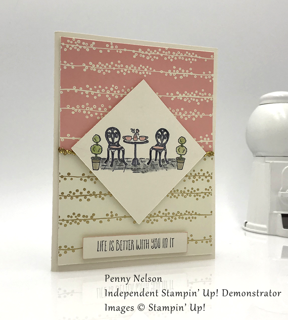 stampin up charming cafe bundle of love handmade card by Penny Nelson for Stamp Candy