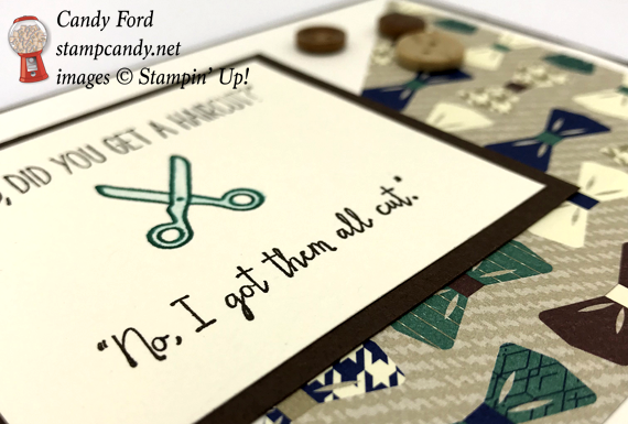 Stampin' Up! Dad Jokes and True Gentleman DSP handmade card made by Candy Ford of Stamp Candy