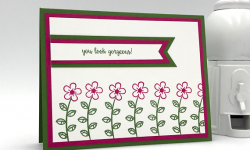 You look gorgous handmade card made using Stampn' Up! Happy Birthday Gorgeous stamp set by Candy Ford of Stamp Candy