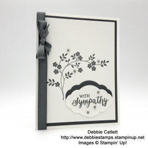 Debbie Catlett, Candy Hearts, sympathy card made with Thought & Prayers stamp set by Stampin' Up!