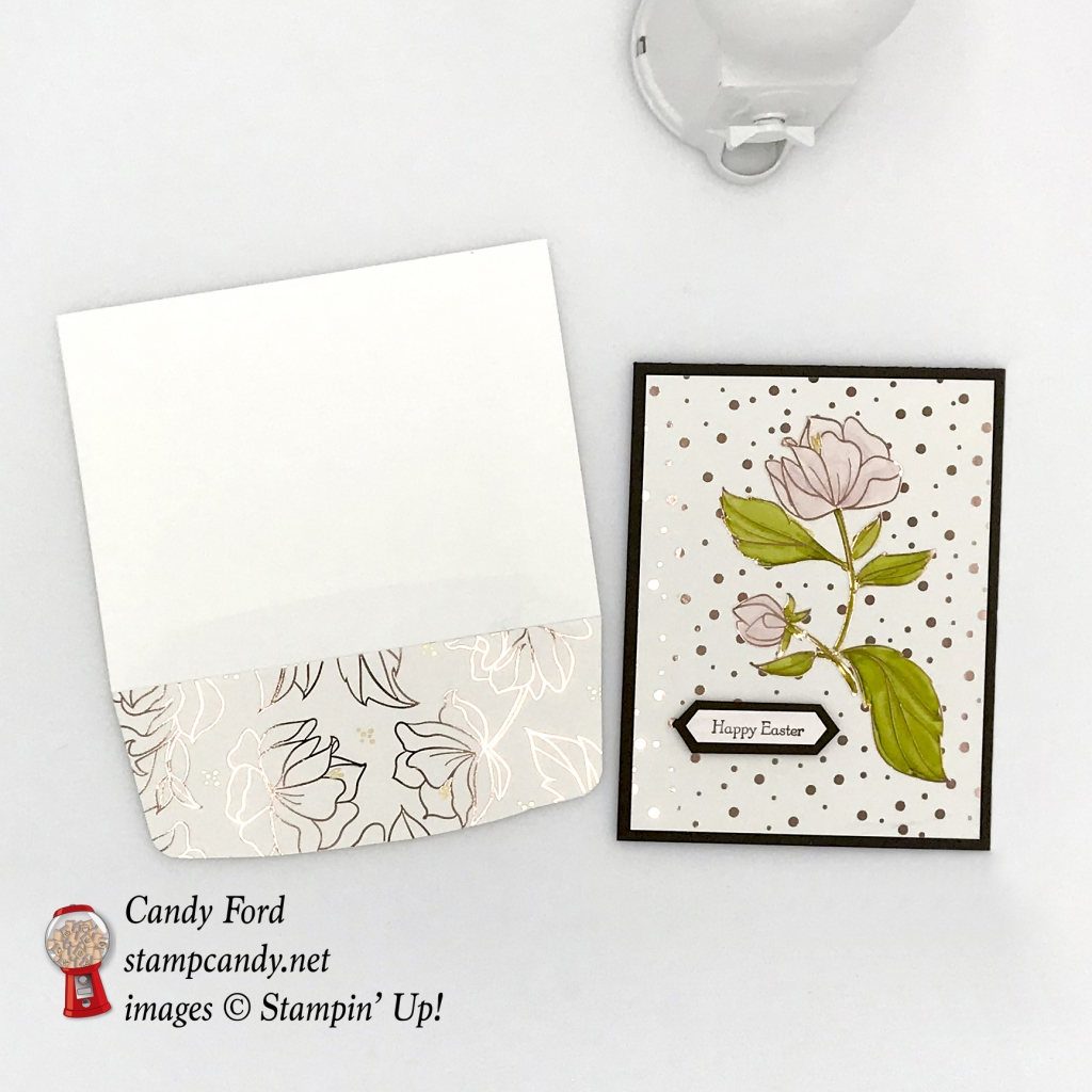 Happy Easter card made with the Teeny Tiny Wishes stamp set and Springtime Foils Sale-A-Bration paper by Stampin' Up! #stampcandy