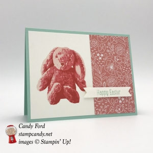 Happy Easter card made with the Sweet Little Something stamp set by Candy Ford of #stampcandy