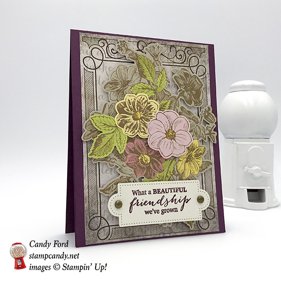 APPT Blog Hop, Paper Pumpkin, March 2018, alternate projects, sour cream container and card, happy birthday, friendship, floral, Stampin' Up! #stampcandy