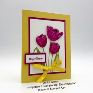 Easter card made by Lonita Barron, Independent Stampin
