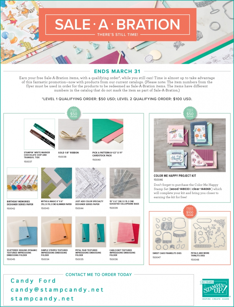 Sale-A-Bration (SAB) 2018 3rd release items! #stampcandy