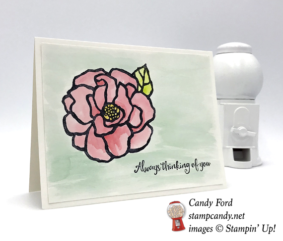 Stampin' Up! Beautiful Day watercolored handmade card by Candy Ford of Stamp Candy