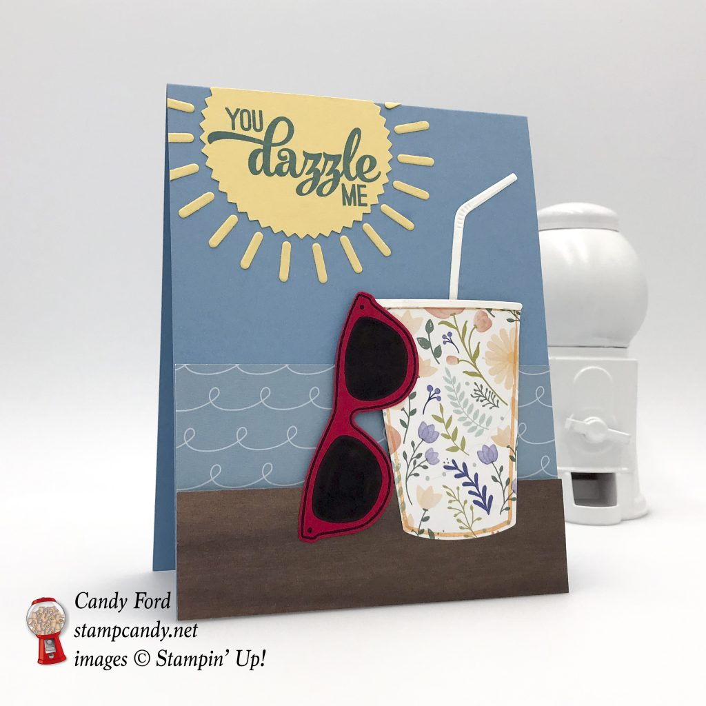 You Dazzle Me card made with the Sunshine & Rainbows stamp set & Rainbow Builder Framelits Dies (bundle,)by Stampin' Up! #stampcandy