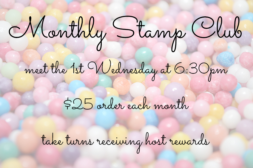 monthly stamp club #stampcandy