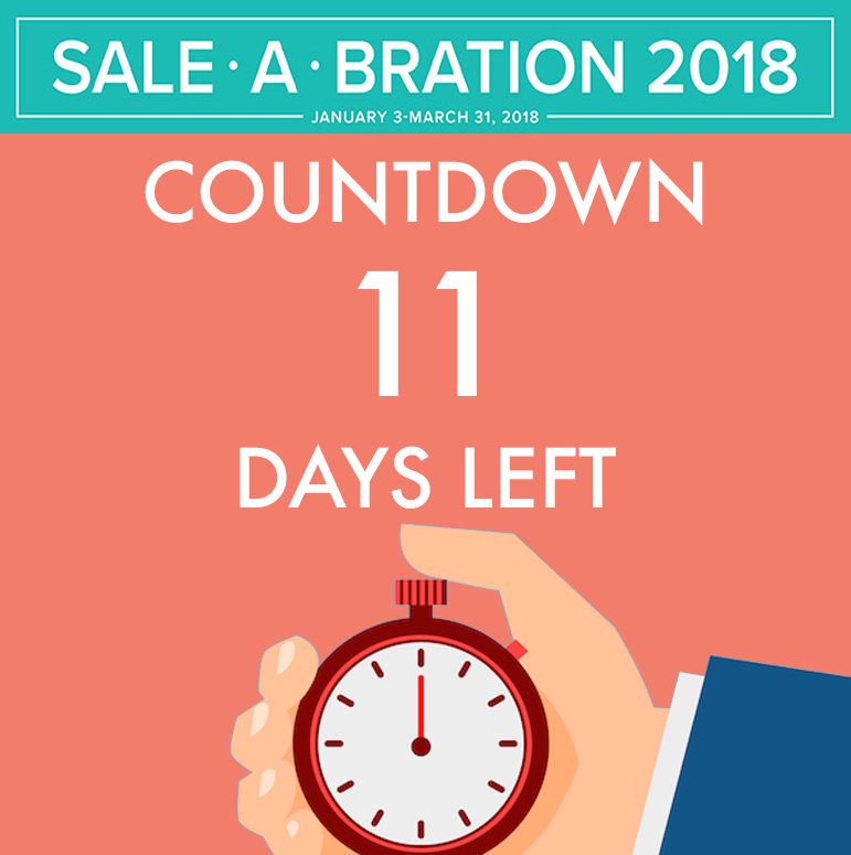 Sale-A-Bration Countdown - only 11 days left! #stampcandy