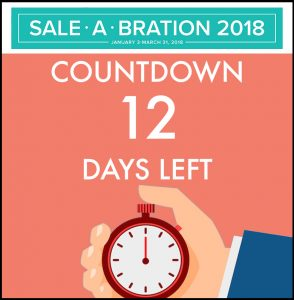 Sale-a-bration countdown. Only 12 days left! #stampcandy